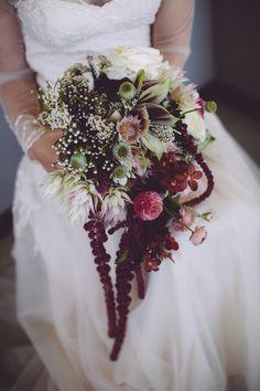 Amazing Jewel Tone Wedding Bouquet | SouthBound Bride www.southboundbride.com/organic-jewel-tone-wedding-at-roodezand-by-heather-steyn-photography-yolandi-benjamin Credit: Heather Steyn