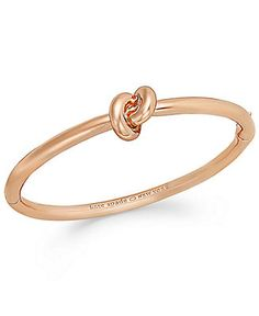 kate spade new york Rose Gold-Tone Sailor's Knot Hinged Bangle Bracelet - Fashion Jewelry - Jewelry & Watches - Macy's