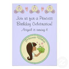 Princess, Frog and Unicorn Birthday Invitation
