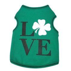 Love Shamrock Dog Tank - Green