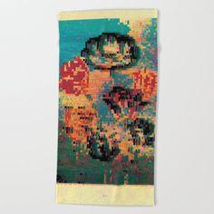 Tulips: Robert Thornton Beach Towel by beebeedeigner Beach Towel, Summer Beach, Tulips, Summertime, Seasons, Contemporary, Artist, Painting, Design