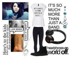 """""""Music=Life"""" by softballnumber4 ❤ liked on Polyvore featuring Axel, Paige Denim, Converse and Beats by Dr. Dre"""