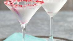 White Chocolate-Peppermint Marshmallow Martini
