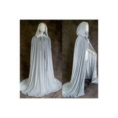 Lined Grey Velvet Cloak Cape Wedding Wicca LOTR Gandalf ❤ liked on Polyvore