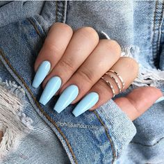 acrylic nail designs of glamorous ladies of the summer season 24 > mydecorh. acrylic nail designs of glamorous. Blue Acrylic Nails, Summer Acrylic Nails, Acrylic Nail Designs, Spring Nails, Pastel Blue Nails, Light Blue Nails, Baby Blue Nails With Glitter, Blue Gel Nails, Glitter Nails