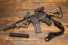 AR Easy to use medium range weapon. My choice of weapon Weapons Guns, Guns And Ammo, Rifles, Armas Airsoft, Ar Pistol, Battle Rifle, Military Guns, Cool Guns, Assault Rifle