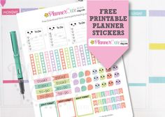 Free Kawaii Printable Planner Stickers by Plannercute, The most cute Kawaii Printable Planner Stickers in Etsy!