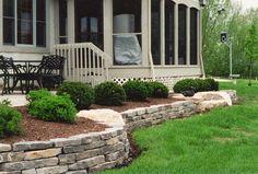 Limestone Retaining Wall & Patio