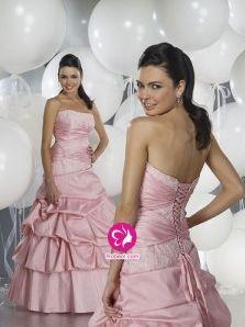 Mode de bal Sans bretelles Longueur ras du sol Robe de soirée en Taffetas (FR0252809)