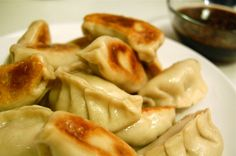 Homemade potstickers. You'll never buy them in that huge bag again. I have been CRAVING THESE