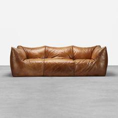 Leather Furniture, Sofa Furniture, Leather Sofa, Library Furniture, B&b Italia Sofa, Divani Design, Mario Bellini, Sofas, Armchairs