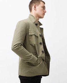 Image 3 of COTTON SAFARI JACKET from Zara