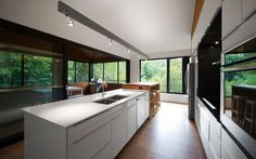 Résidence Panorama | Blouin Tardif Architecture Environnement modern zen simple simplicity cottage cuisine kitchen
