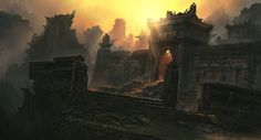 Temple Ruins by *JonasDeRo on deviantART