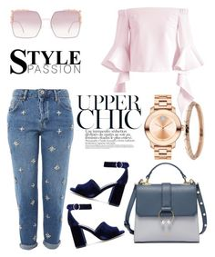 """Как то так"" by yana-miroshkina on Polyvore featuring Movado, Chicwish, Topshop, Joie, Fendi and House of Harlow 1960"