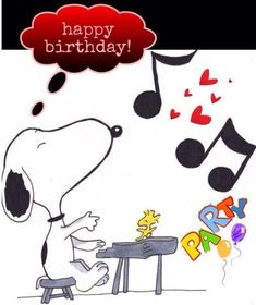 Dance to the music with Snoopy for YOUR birthday wishes. Happy Birthday Snoopy Images, Happy Birthday Quotes For Friends, Birthday Wishes Cards, Happy Birthday Greetings, Birthday Messages, Friend Birthday, Happy Party, Happy Birthday Parties, Birthday Fun