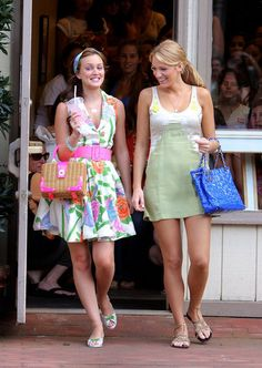 Say Farewell to Gossip Girl With a Look Back at the Cast's Cutest Snaps!: Sharing a laugh while cameras were rolling, Leighton Meester and Blake Lively filmed on location in Port Washington, NY, in June 2008.