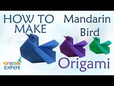 Nesting Bird · How To Fold An Origami Bird · Origami on Cut Out + ... | 177x236