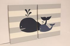 Items similar to whale nursery wall art baby boy girl whale decor baby boy girl nautical theme room sea creature theme whale nursery decor beach house on Etsy Whale Nursery, Baby Boy Nursery Themes, Baby Whale, Nautical Nursery, Baby Boy Rooms, Baby Boy Nurseries, Baby Decor, Nautical Theme, Room Baby