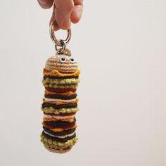 Crochet Food, Crochet Gifts, Cute Crochet, Lipstick Case, Freeform Crochet, Kawaii, Loom Knitting, Handicraft, Crochet Projects