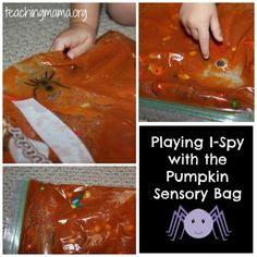 I-Spy Game with Pumpkin Sensory Bag