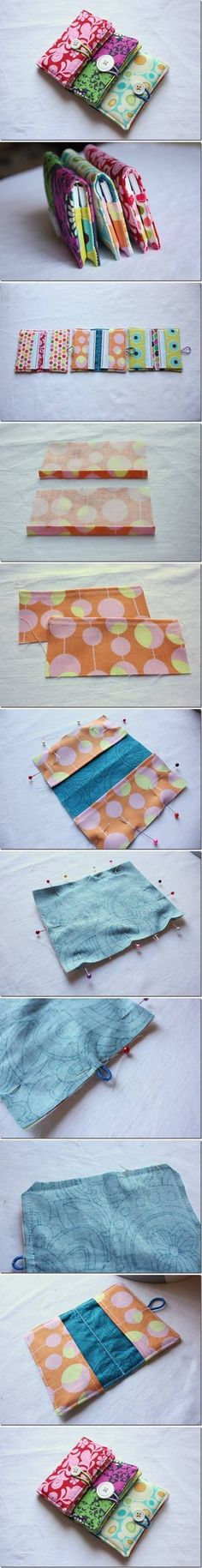 DIY Sew Business Card Holder | I often see this and forget to pin it so todays the day! could be nice little gifts or stocking stuffers too!
