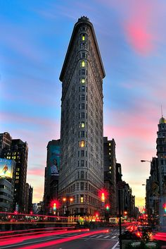 Sunset over the Flatiron Building ~ NYC