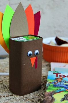 Turkey Juice Box for mason's thanksgiving party at school!