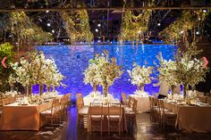 Abundant greenery brought this one-of-a-kind warehouse wedding to life.Photo Credit: Ira Lippke Studios on Inspired by This via Lover. Reception Design, Reception Decorations, Event Design, Spring Wedding, Garden Wedding, Dream Wedding, Wedding Rehearsal, Wedding Reception, Flower Centerpieces
