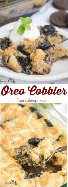 you love Oreos and ooey, gooey cobblers, you'll love my 3 Step Oreo Cookie Dump Cobbler recipe.If you love Oreos and ooey, gooey cobblers, you'll love my 3 Step Oreo Cookie Dump Cobbler recipe. Mini Desserts, Köstliche Desserts, Desserts For Potluck, Desserts With Oreos, Winter Desserts, Potluck Recipes, Health Desserts, Plated Desserts, Recipes Dinner