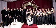Bam and Missy's entire wedding party poses for an imposing portrait. | MTV Photo Gallery