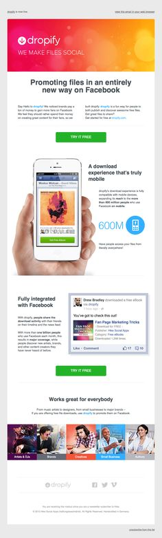 Dropify email design