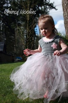 """The Coralie Dress"" Crochet & Tulle Party Tutu"