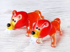 Small glass lion figurine hand blown lion animals small lion sculpture art glass blowing murano lion sculpture collectible glass art