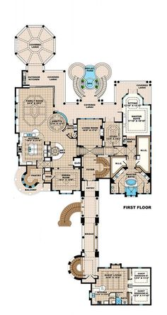6 Bed House Plans Best Of Mediterranean Style House Plan 6 Beds 6 Baths 8364 Sq Ft The Plan, How To Plan, Dream House Plans, House Floor Plans, My Dream Home, House Plans Mansion, Barndominium Floor Plans, Mediterranean Design, Mediterranean Architecture