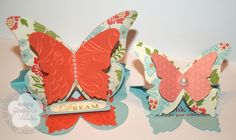 Stampin' Up! butterfly easel cards