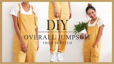 DIY Overall jumpsuit from scratch - Step by step tutorial clothes for teen clothes no sewing clothes refashion clothes thrift store clothes tshirt Sewing Hacks, Sewing Tutorials, Beginners Sewing, Tutorial Sewing, Sewing Diy, Diy Fashion Sewing, Diy Clothes Tutorial, Diy Clothes Refashion, Bags Sewing