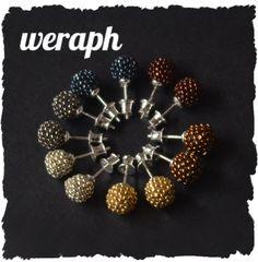 Mini balls beaded earrings stud