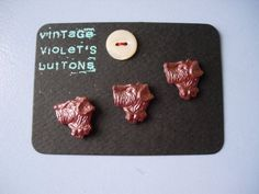 deco terrier dog vintage buttons by VINTAGEhaberdashery on Etsy, $6.00