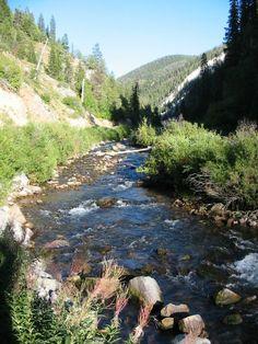 Afton, Wyoming Swift Creek below Intermittent Springs, Largest Cold Water Geyser