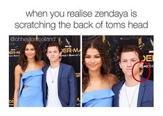 They're so dam adorable together 🥰😍. Tom Holland and Zendaya Funny Marvel Memes, Marvel Jokes, Dc Memes, Marvel Actors, Marvel Dc, Spiderman Marvel, Tom Holland Zendaya, Tom Holland Peter Parker, Tommy Boy