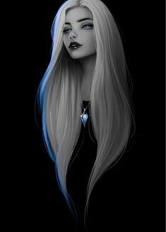 Beautiful Girl Drawing, Cute Girl Drawing, Beautiful Fantasy Art, Digital Art Girl, Digital Portrait, Portrait Art, Girl Cartoon, Cartoon Art, Evvi Art