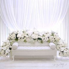 You can never go wrong with all white theme for solemnization ❄️ by flair design