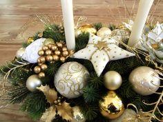 Weihnachtsdeko champagnerfarben