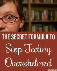 Stressed by your to-do list? Click for 8 surefire tricks to stop feeling overwhelmed and get organized during busy times.