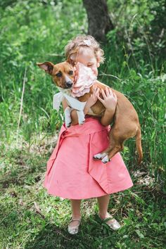 little guests and fury #pets  Photography by woodnotephotography.com  Read more - http://www.stylemepretty.com/2013/08/29/wisconsin-wedding-from-woodnote-photography-2/