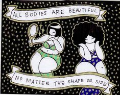 By Emma Shakarshy--Mikhaila Nodel is a 16 year-old artist committed to spreading the message of body positivity and self-love through art. Positive Body Image, Fat Positive, Body Confidence, Loving Your Body, 16 Year Old, Nice Body, Self Love, Clip Art, Positivity