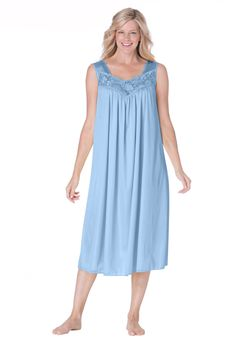 255351ade62 Plus Size Tricot waltz-length nightgown Good Night Baby