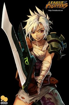 League of Fighters - Riven by 2gold.deviantart.com on @deviantART