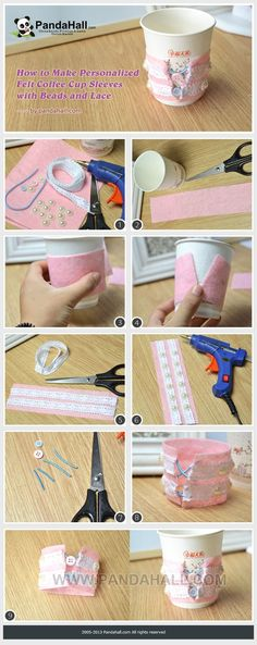 How to Make Personalized Felt Coffee Cup ... | Jewelry Making Tutorial